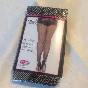 318752057b Music Legs Accessories - Music Legs Plus Size Backseam Fishnet Pantyhose